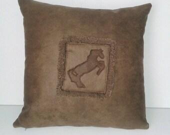 western style horse cushion