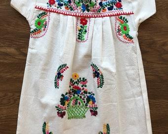 Handmade girls mexican dress sz 4
