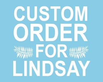 Custom Stamp Order for Lindsay