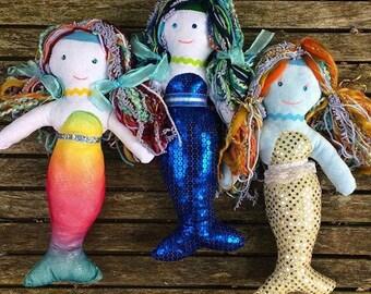 "Mermaid Dolls (Merboys Merman also available) approx 9""- 10"" tall"