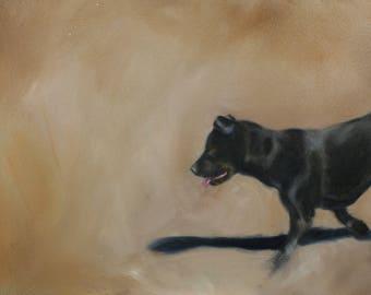 "World's Greatest Athlete - 20"" x 10"" custom oil painting"