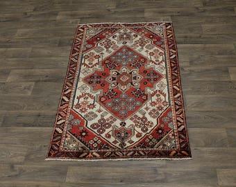 3X5 Gorgeous Small Handmade Hamedan Persian Rug Oriental Area Carpet 3ʹ4X5ʹ4