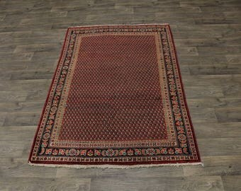 Rare Antique Large Foyer All Over Mahal Persian Oriental Area Rug Carpet Sale Discounted 4'6X7