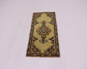 Nice Gold-Washed Antique Handmade Tabriz Persian Rug Oriental Area Carpet 2X4