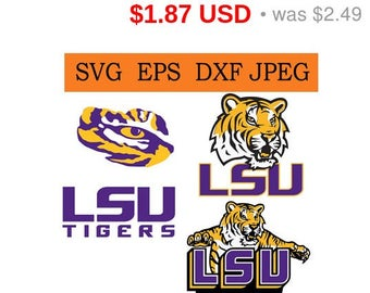 Sale 25%  - Lsu Tigers logo in SVG / Eps / Dxf / Jpg files INSTANT DOWNLOAD!