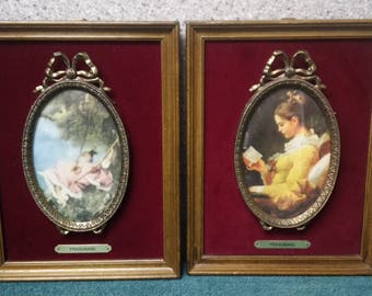 Fragonard Cameo set of 2 from the early 1900's