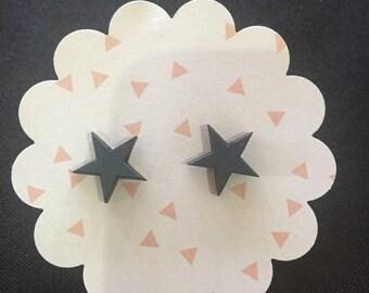 Laser cut wood stars 12mm