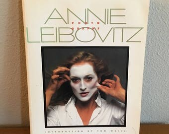 Vintage Copy of Annie Leibovitz Photographs- Paperback Coffee Table Book of Photography- Celebrity Photography from Rolling Stone Magazine