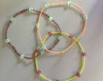 Anklets set of three
