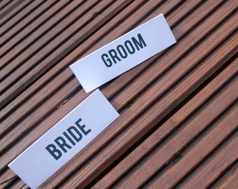 Industrial Style Card Personalised Place Settings Wedding Personalised