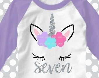 7th svg, 7 birthday SVG, unicorn, seventh, birthday svg, 7 svg, birthday svg, iron on, svgs , unicorn birthday, 7th birthday