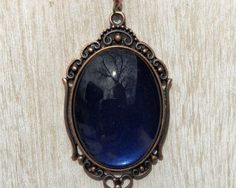 Blue and Copper Pendant