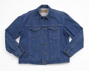 Vintage Wrangler M-159 Denim Jacket vtg 80's blue