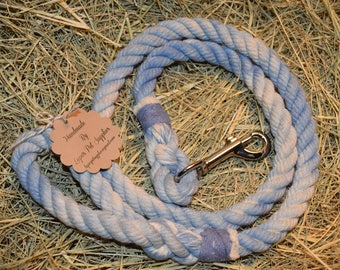 Light Blue/White Marbled Rope Leash