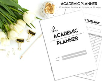 Academic Planner, Student Planner, Study Planner, College Planner, University Planner, Back to School, High School Planner,Printable Planner