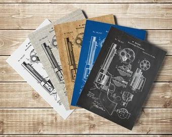 Revolver, Revolver Print, Hand Gun Print, Gun Printable, Gun Blueprint, Gun Wall Decor, Gun Poster, Revolver Pistol, Decor, INSTANT DOWNLOAD