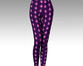 Purple Leggings, Christmas Leggings, Xmas Leggings, Christmas Balls, Christmas Decoration, Christmas Clothing, Xmas Clothing, Gift for Women