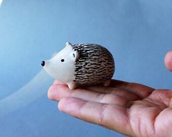 Handmade Ceramic Hedgehog Figurine