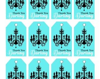 1DAYSALE Breakfast Tiffanys /Gift Tags/ stickers/labels/ Bridal shower / Tiffanys/ Audrey Hepburn/ Party printables/ Bridal Printables/ Tiff