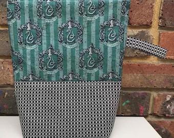 Harry Potter Slytherin Zippered Project Bag