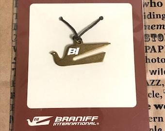 Traveler's Notebook BRANIFF INTERNATIONAL Brass Charm Bird pattern Limited Traveler's Factory Midori Designphil Free Shipping