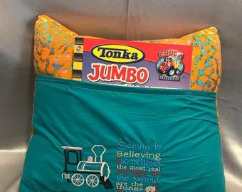 Pocket Pillow, Reading pillow, Book pocket, Reading poem