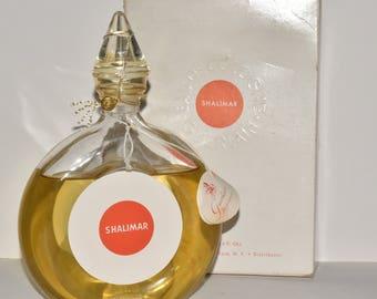 Vintage Guerlain Shalimar Eau De Cologne 6 fl oz / 177 ml Box Paris France #306