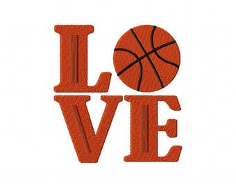 love basketball embroidery design