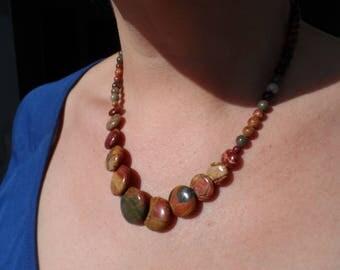 PIcasso Jasper stone necklace