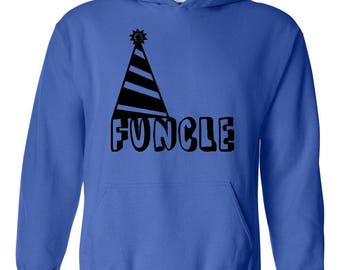 Funcle Fun Uncle Christmas Birthday Fathers Day Gift Match with Hats Jeans Shoes Unisex Hoodie Sweatshirt