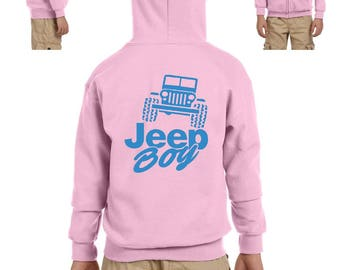 Jeep Boy Humor Trucks Gift for Christmas Birthday Match with Jeans Leggings Hats Heavy Blend Youth Full-Zip Hooded Sweatshirt