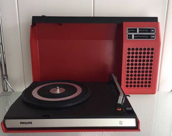 Vintage Record Player Retro Rare Philips Type 270 Vinyl Lp