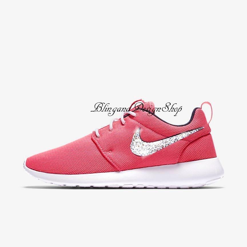 official photos c32a7 924b8 Swarovski Bling Nike Roshe One Women's Nike Shoes Custom ...