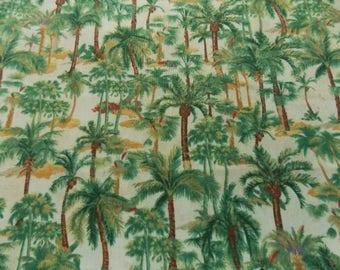 Palm Tree Fabric Palm Trees Cotton Fabric Tree Fabric Quilt Fabric Pillow  Fabric Home Decor Fabric