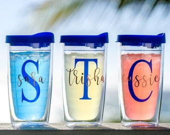 Tervis like tumbler Acrylic Tumbler Double Wall Tumbler tervis tumbler personalized cup monogram cup plastic tumbler bridal party