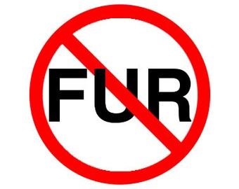 """Anti-Fur 1"""" Pinback Button - Vegan, Vegetarian, Animal Rights, Animal Liberation, Veganism, Activism"""