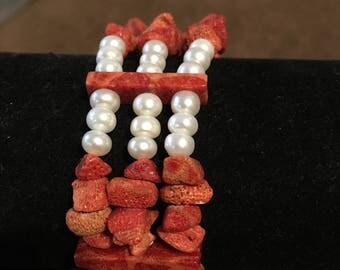 Freshwater pearls with stones
