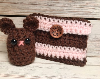 Crochet Bear with free Coin Purse!