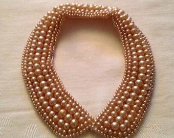 On Sale Fabulous Vintage Pearl Collar