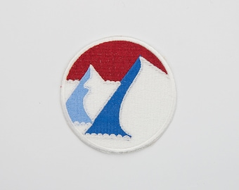 Mountains Iron On Patch