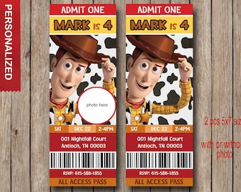 Toy Story Invitation - Toy Story Invite - Disney Pixar Toy Story Birthday Invitation - Toy Story Birthday Party Invitation - with photo