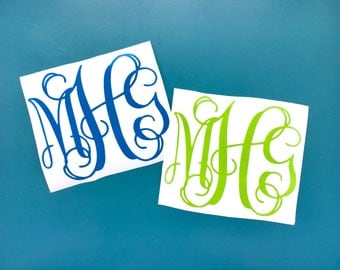 Monogram Decal | Monogram | Monogram Sticker - FREE SHIPPING