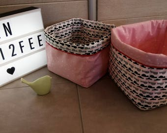 Pair of baby girl storage baskets