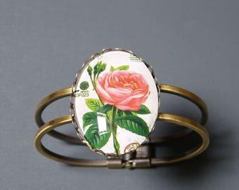 Bracelet cabochon Rose