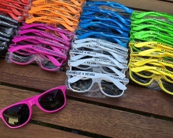 80 ADULT Personalized Sunglasses, Custom Wedding Favor, Bachelor Party Favor, Bachelorette Party, Bulk Sunglasses, Vacation Shades