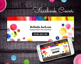 Rainbow Dot Dot Smile Facebook Cover, DDS FB Cover, for Merchandiser