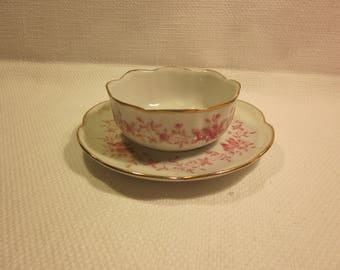 Signed vintage jelly/mayonnaise/condiment bowl with underplate
