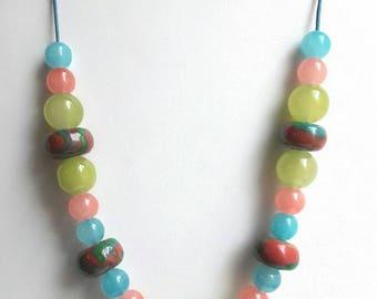 Multicolored necklace Choker, designer jewelery