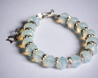 Chunky Moonstone bracelet, Bespoke made, Unusual gift