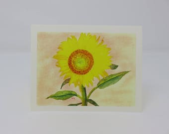 10 Sunflower Cards//flower cards//blank cards//cards//hand made